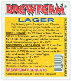 BREWFERM LAGER 100 g