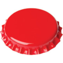 Krunski zatvarači 100 komada crveni